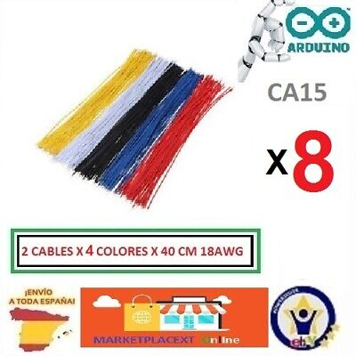 8 Cables Multifilar Cobre 40cm 18AWG Electronica Multifilar Copper Cable CA15