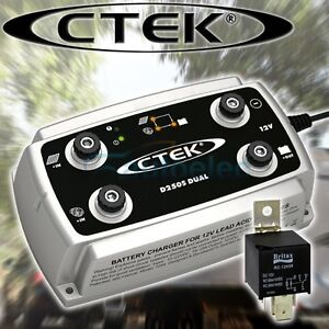 CTEK D250S DUAL DC TO DC BATTERY SOLAR CHARGER 12V VOLT CAR SYSTEM + BONUS OFFER