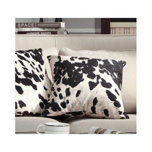 Cow Print Pillow Ebay