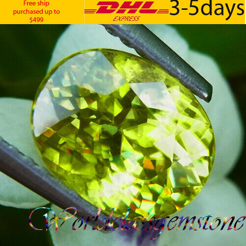 UNHEATED 2.72CT NATURAL YELLOWISH GREEN OVAL SPHENE