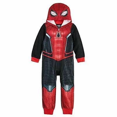 Spider-Man Black, Red Suit Hooded Costume Fleece Pajama Sleeper Spider Man Fleece
