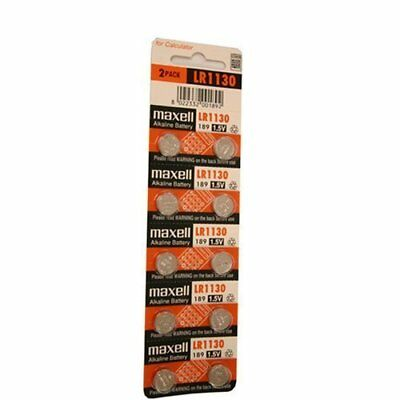 Maxell Watch Button Cell LR1130 AG10 Pack of 30 Batteries NE