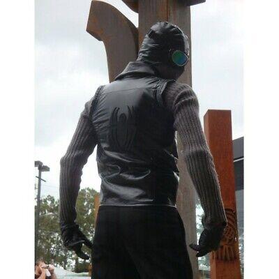 Spider-Man Noir Costume Black Leather Jacket Vest - Leather Spiderman Costume