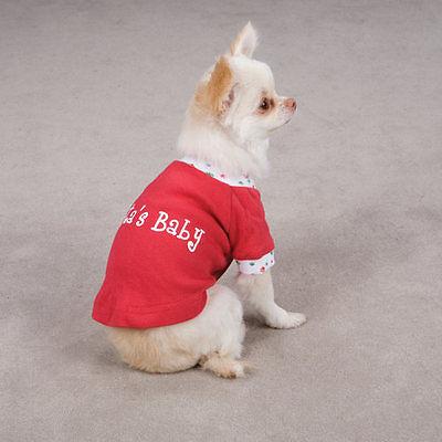 XXSM Dog Shirt Santas Baby Onesie Chihuahua Maltese Yorkie Poodle Christmas NEW