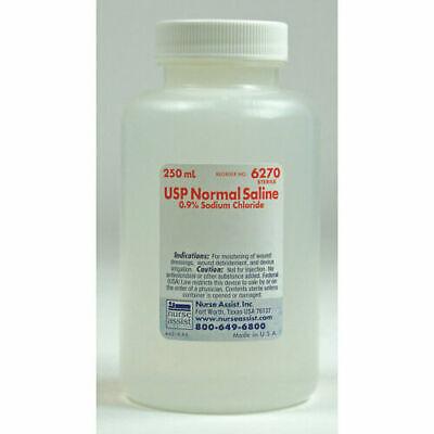24 Pack Sterile Irrigation Solution Usp Normal Saline 250ml 6270 Exp 6-26-20