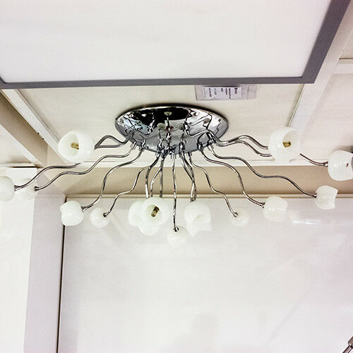 Details zu Modern Wohnzimmer Deckenleuchte XXL 10cm Decken Lampe  Schlafzimmer Leuchte Chrom