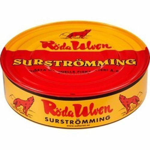 RÖDA ULVEN Surströmming 440g/300g Fisch Dose  (fermentierte ganze Heringe)