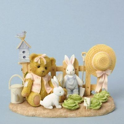 Cherished Teddies Bear Lettuce Patch Figure CAMRYN Planting Seeds Of Friendship