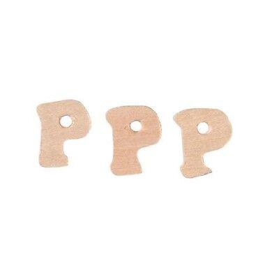 Miniature Wood Letter P Cutouts 3/4 inch 5pc Wedding Favors Parties Wreaths BL (Letter Cutouts)