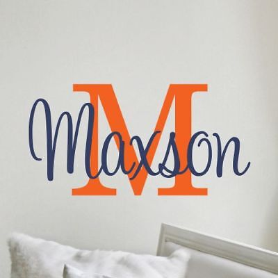 (Boys Name Wall Decal Bedroom Personalized Decor Baby Nursery Vinyl Lettering)