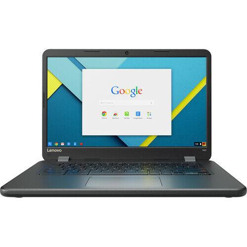 "Lenovo N42-20 Touch 14"" Touch-Screen Chromebook Intel Celeron 4GB Memory 16GB eMMC Flash Memory Black 80VJ0000US"