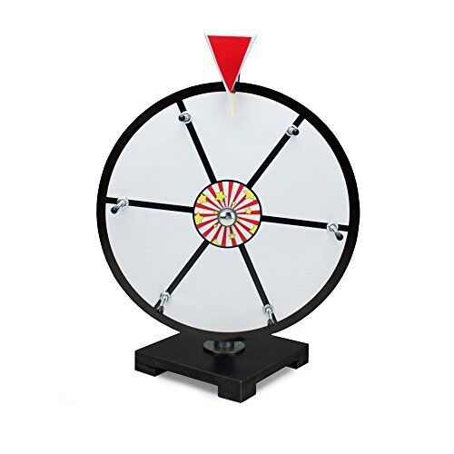 """12"""" White Dry Erase Tabletop Prize Wheel for Trade Shows"""