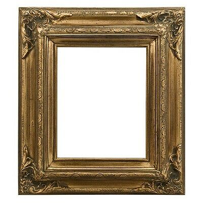 Antique Gallery Photo Picture Painting Frame Wood Brushed Gold Leaf 3.5