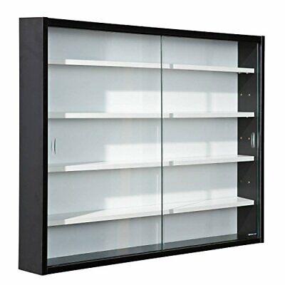 Inter Link Simply Vitrina de madera MDF y vidrio, Negro, 80 x...