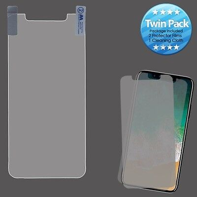 Apple iPhone X / XS Twin Pack 2X Clear LCD Screen Protector with Cleaning Cloth