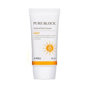 a-039-pieu-Crema-de-sol-diarias-de-bloque-Puro-Natural-50ml-SPF45-PA