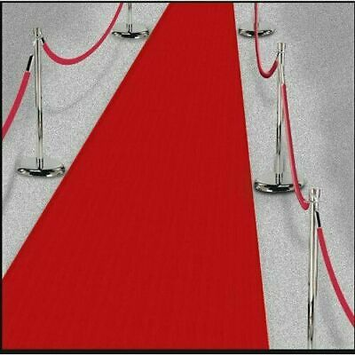 RED Carpet Hollywood Runner VIP Party Decoration Wedding Thin Poly Fabric 15ft](Carpet Runner Red)
