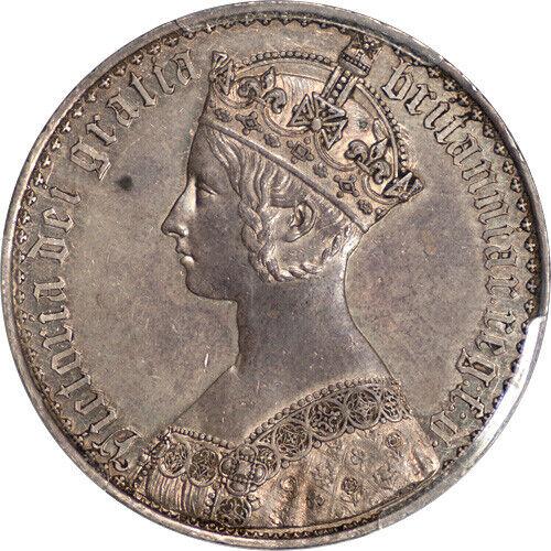 Great Britain 1847 Victoria Proof Gothic Silver Crown PCGS PR-58 UNDERGRADED!!