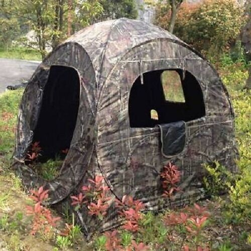 2 Man Shooting Hunting Hide Tent Blind Camo Pop Up