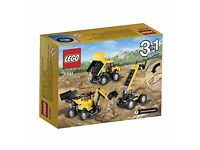LEGO Creator 31041 Construction Vehicles Set: Brand new