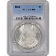 1884 Morgan Silver Dollar MS 65