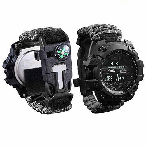 survival bracelet watch survival kit tool gear