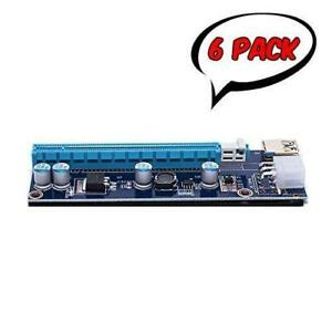 PCI-E 1x to 16x Powered Riser Adapter Card VER 009s (6 Pack)