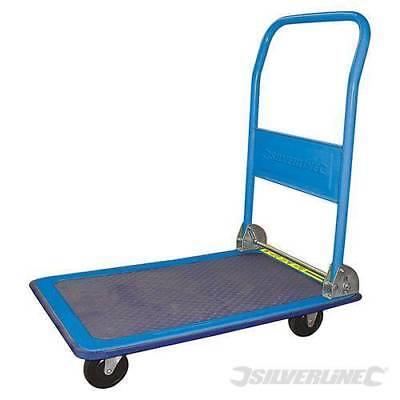 Pro Silverline 150kg Platform Hand Trolley Truck Sack Cart Flat Bed Folding New