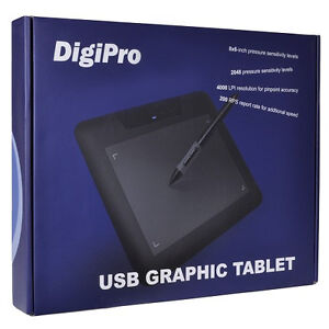 """8"""" x 6"""" DigiPro 680S USB Drawing/Graphic Tablet w/Stylus Pen NEW"""
