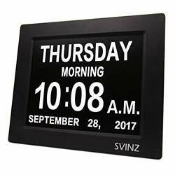 Dementia Clock Large Display Number 3 Alarms Senior Elderly Wall Clock Calendar