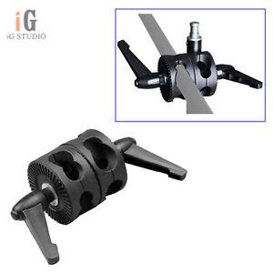 Dual-Head-Grip-Swivel-Head-Holder-Bracket-For-Photo-Studio-Reflector-Boom-Arm