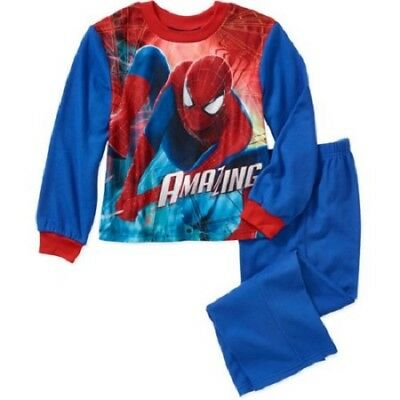 Spiderman Licenced Sleepware Boys Flannel Pajama Set Size 4/5 - Boys Sleepware