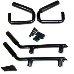 Grab / Handle Bars for Front + Rear For 07-16 Jeep Wranglers