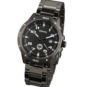INFANTRY DATE MILITARY 21CM STAINLESS STEEL ANALOG MENS SPORTS WRIST WATCH NEW
