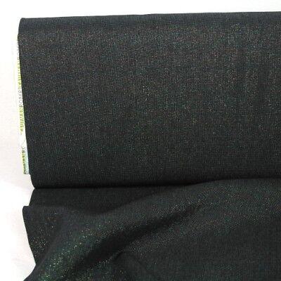 Metallic Stoff Baumwolle Leinen Essex Yarn Dyed Celstial schwarz Lurex Kaufman  (Essex Leinen)