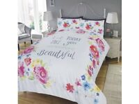 Let today take you somewhere beautiful duvet set. Double. Brand New