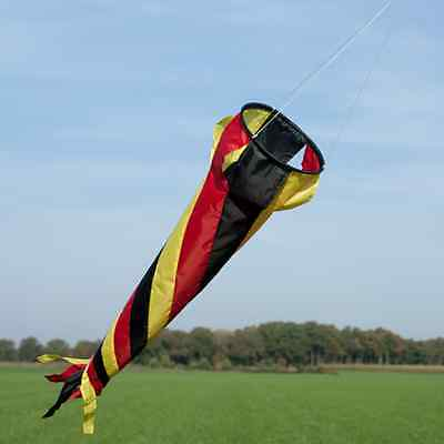 Windspiel Windsack Deutschland 90cm schwarz rot gold Spirale bunt Mobile farbig