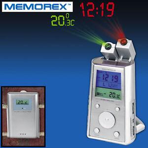 Memorex 4688 Radio Controlled Dual Projection Atomic Clock Radio w/ Temperature