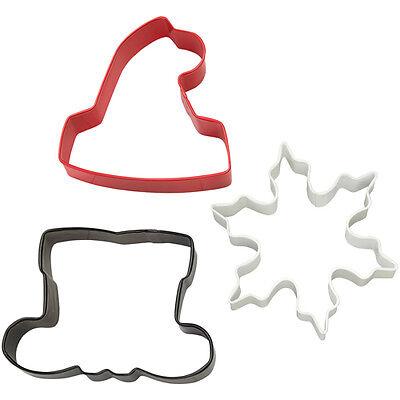 Wilton Cookie Cutter Set Santa Shaped  Weihnachten 3 tlg °° Ausstecher Shaped Cookie Cutter Set