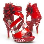 Red Rhinestone Shoes