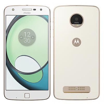 Motorola Moto Z Play Droid 32GB XT1635 White/Gold (Unlocked) Verizon Grade A-