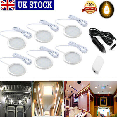 Car Parts - 6x Interior LED Spot Lights For VW T4 T5 Camper Van Caravan Motorhome light 12V