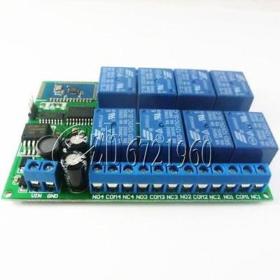 Dc 12v 8-ch Bluetooth Receiver Relay Board Android Smart Remote Control Switch