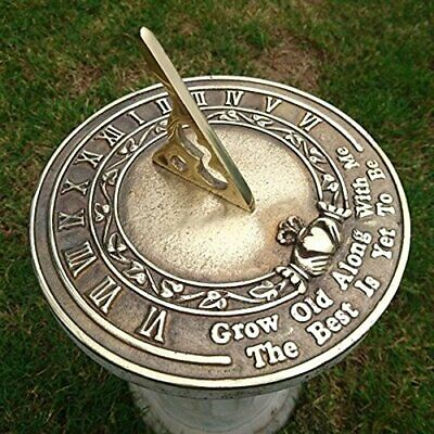 garden ornaments and accessories Grow Old Along With Me Sundial