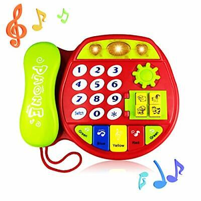 Telephone Toy for 3-12 Month Baby, Toy Phone Gift 1-3 Year Old Baby Boy