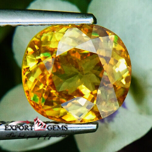 UNHEATED 2.17CT NATURAL YELLOW OVAL SPHENE