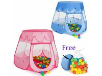 Childrens Baby Kids Tent Ball Pool Pit Toy Playhouse Pop Up Nursery Garden + BAG