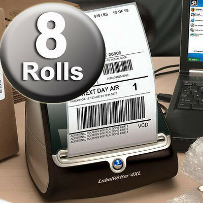 DYMO 4XL Direct Thermal Shipping Labels 4x6 ( 8 JUMBO rolls ) 1744907 compatible