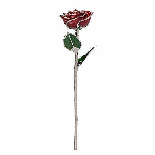 Forever Rose Genuine Real Red Rose, Hand Dipped and Platinum to Last a Lifetime