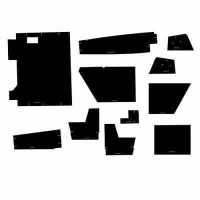 Cab Foam Kit With Headliner Black Compatible With Case 4490 4890 4690